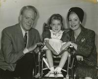 Nelson Eddy and Jeanette MacDonald with Kathy Vinson at New Orleans Muscular Dystrophy Campaign