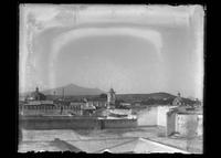 Panorama of a Puebla town