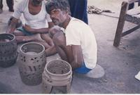 Men with pots