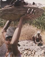 Man with basket of clay