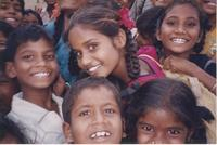 A group of children in India