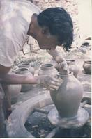 Man shaping a pot