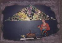 Woman with completed mural