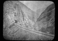 Railroad tracks through the Andes