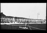 Naval troops marching