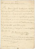 Official letter from the Baron de Carondelet, [New Orleans?], to Colonel Francisco Bouligny, [New Orleans?]