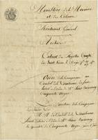 Order issued by the Directors of the Company [of the Indies], [Paris], to the Louisiana Council