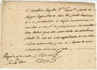 Pay order issued by Governor [Estevan] Miró of Louisiana, New Orleans, in favor of the free mulatto Robert