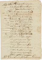 Certificate of service issued by Estevan Miró to Pedro Rousseau, [New Orleans]