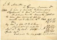 Agreement to hire servant, John Wesley Monette; George Newman