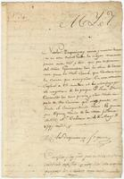Bill, certificate, pay order, and receipt for work done by Nicolas Duquainnay at the Royal prison, New Orleans