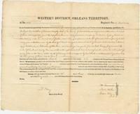 Land patent to the property claimed by Edward Murphy, deceased, in the County of Natchitoches