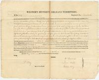 Land patent to property claimed by Edward Murphy, deceased, in the County of Natchitoches