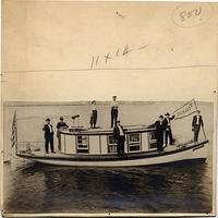 Unidentified group on a boat