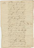 Certificate of service issued by Bernardo de Gálvez, at Guarico [on the island of Española/Santo Domingo], to Pedro Rousseau, [in Louisiana]