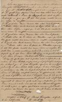 Act of sale of property, a transaction between Madame Louis Bouligny née Dauterive, New Orleans, and Edouard Livingston, New York