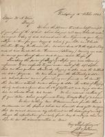 Business letter from J.F. and J. Palmer, Vicksburg, to Major W.A. Ware, [near Clinton, Mississippi],