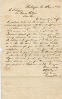 Personal letter from Lieutenant C[harles] H.C. Brown, President's escort, Washington, Georgia, to C[harles] A. Louque, Louisiana Guard Artillery, no place