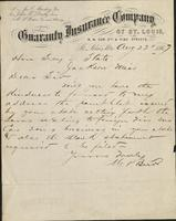 Business letter from M.P. Burr, Saint Louis, to the Secretary of State, Jackson, Mississippi