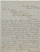 Personal letter from John A. Buckner, Jackson, Mississippi, to Jefferson Davis, no place