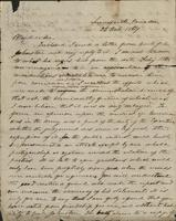 Personal letter from Jefferson Davis, Lennoxville, Canada, to T.J. Wharton, Jackson, Mississippi