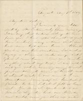 Personal letter from an unidentified woman, Augusta, [Georgia?], to [Mississippi?] Sidney [Harding?], no place
