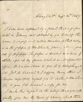 Personal letter fro Joseph E. Johnston, Abingdon, Virginia, to Jefferson Davis, [Lennoxville, Canada]