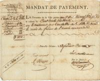 Mandats de Paiement issued by the Mayor of New Orleans in favor of various individuals.
