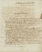 Official letter from [Colonel] J[oseph] Deville Degoutin Bellechasse, New Orleans, to the Mayor of New Orleans [John Watkins].