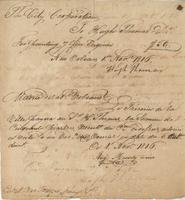 Bill and pay order for work done by Hugh Thomas for the City of New Orleans.