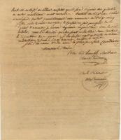 Official letter from Charles Trudeau, for the City Council of New Orleans, to the Mayor [James Mather].