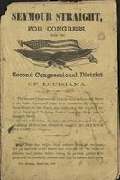 Seymour Straight for Congress from the second Congressional District of Louisiana.