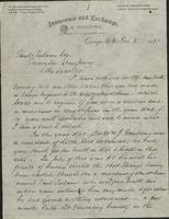 Letter written by L.E. Goulding to Paul Tulane