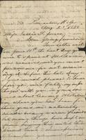 Letter written by Paul Tulane to Sallie G. Jones