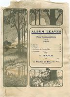 Album Leaves - Four Compositions for the Piano; Opus 11