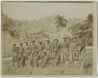 Cuban scene of soldiers