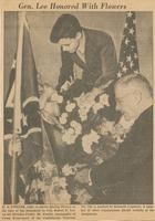 Gen. Lee Honored With Flowers