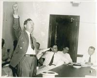 Huey Long, Fist in the Air Close-up