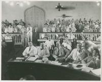 Huey Long at Impeachment Trial