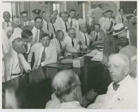 Huey Long with O.K. Allen and Other Legislators