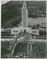 Aerial View Huey Long's Funeral Close-up