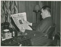 Richard Leche Reading Newspaper