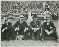 Huey Long at Football Game