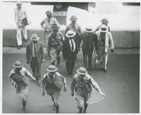 Huey Long with bodyguards