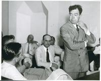 Huey Long with Arms Folded close-up