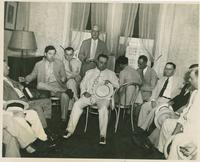 Huey Long with tired group