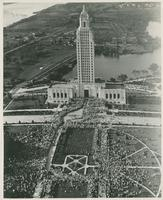 Aerial View Huey Long's Funeral