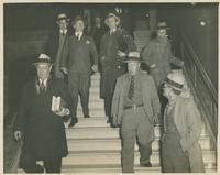 Huey Long Walking Down Stairs
