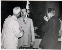 Huey Long Talking to Legislator