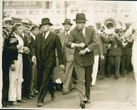 Huey Long Leading band at Vanderbilt Close-up